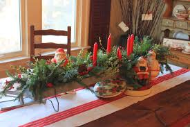 beautiful christmas centerpiece with adorable red and white