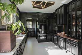 House Beautiful Kitchen Design Black White Kitchens With Wood Countertops And Butcher Blocks