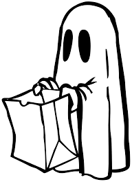 halloween ghost clipart black and white svg colouringbook org