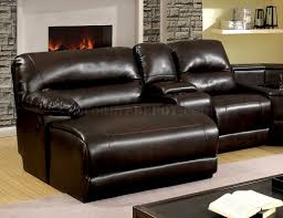 The Livingroom Glasgow by Reclining Sectional Sofa Cm6822br In Brown Leatherette