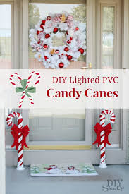 Diy Christmas Home Decor Lighted Pvc Candy Canes Diy Christmas Home Decor Diy Show Off