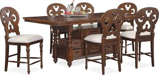 Counter Height Dining Room Tables by Charleston Counter Height Dining Table And 6 Scroll Back Stools