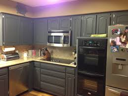 Oak Kitchen Design Ideas Black Color Painting Oak Kitchen Cabinet Design With Drawer And