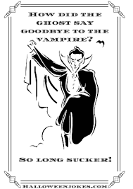 black and white halloween joke cartoon vampire with coat cpal
