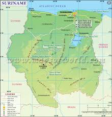 South America River Map by Suriname Map Map Of Suriname