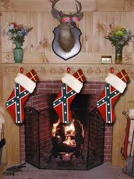 Rebel Flag Home Decor full size confederate rebel flag christmas stocking 9 inches wide