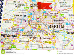 Map Germany by Berlin On The Map Of Germany Royalty Free Stock Images Image
