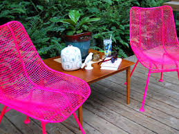 Painting Wicker Patio Furniture - how to paint metal chairs how tos diy