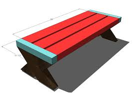 Plans For Wood Picnic Table by Ana White Build A Modern Kid U0027s Picnic Table Or X Benches Diy
