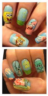 spongebob nail art sponge bob pinterest