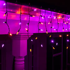 halloween pathway lights 150 halloween icicle lights purple orange black wire yard envy