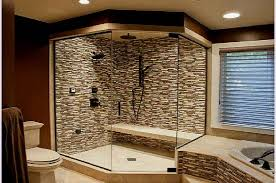bathrooms showers designs blue painted wall modern shower features