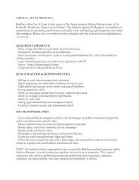 qualifications for a resume examples medical esthetician resume sample http www jobresume website medical esthetician resume sample http www jobresume website medical