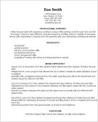 Liaison Resume Sample by Professional Police Records Clerk Templates To Showcase Your