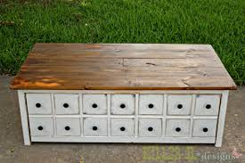 Easy To Make Wood Toy Box by Ana White Apothecary Coffee Table With Toybox Trundle Diy Projects