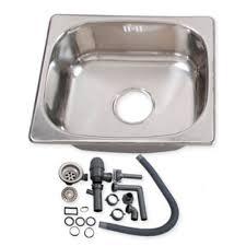Campervan Small Cm Steel Motorhome Sink Waste Kit Ideal Self - Kitchen sink plumbing kit