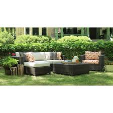 Deep Seat Patio Chair Cushions Ae Outdoor Biscayne 4 Piece Patio Deep Seating Set With Sunbrella