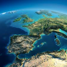 Map Of Western Europe by Exaggerated Relief Map Of Western Europe 5000 X 5000 Map
