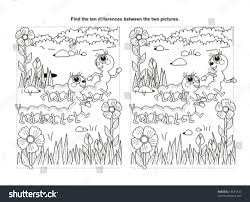 find ten differences visual puzzle coloring stock vector 14691433