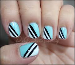 notw diy nail art 27 black white and blue nails d g s beauty