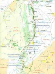 Labeled Map Of Central America by Official Appalachian Trail Maps