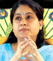 Election Commission has shown its anger on TRS MP Vijayashanthi for