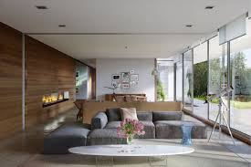 Interior Design Ideas For Open Floor Plan by Gray Sectional Sofa In A Large Open Floor Plan Living Room With