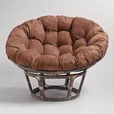 Papasan Chair In Living Room Espresso Papasan Chair Frame World Market