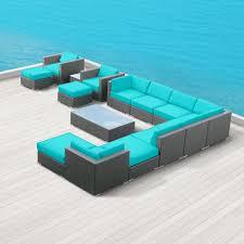 Resin Wicker Patio Furniture Sets - amazon com modern outdoor patio furniture wicker bella 15 piece