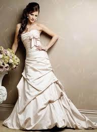 Beautiful strapless wedding