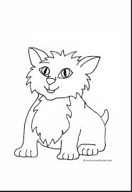 good cute cat and dog coloring pages animal with cute cat coloring
