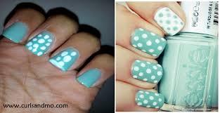 mani monday tiffany blue and glitter french