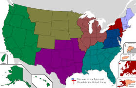 The Map Of The United States Of America by Province 9 Of The Episcopal Church In The United States Of America