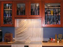 Home Decor Light Brown Wooden Kitchen Cabinet With Glass Door - Kitchen cabinet with glass doors