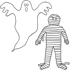 halloween ghost coloring pages getcoloringpages com