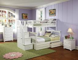 Two Twin Beds In Small Bedroom Amazon Com Columbia Staircase Bunk Bed With 2 Raised Panel Bed