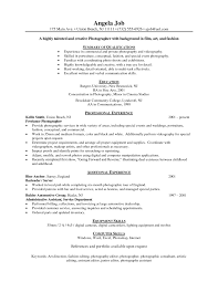 Best Resume Header Format by Photographer Resume Format Resume For Your Job Application