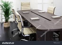 modern conference room table large table chairs modern conference room stock photo 143683963