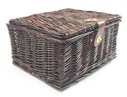 wicker picnic gift storage xmas christmas empty hamper basket