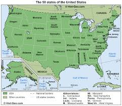 Map For United States by Map Of The 50 States Of The United States Usa