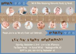 1st Year Baby Birthday Invitation Cards Measure A Year One Year In A Flash First Birthday Party Event