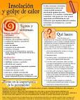 Folleto de instructiones: <b>Insolación</b> y golpe de calor (Heat