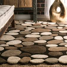 Pebble Area Rug Nuloom Hand Carved Stones And Pebbles Wool Rug 5 U0027 X 8 U0027 Free