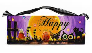 halloween wall art happy halloween pumpkin black cat owl from mollie u0027s market
