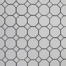 we chose simple black and white hexagon tile floors for the girls