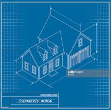 isometric house blueprint vector art getty images