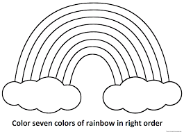 seven rainbow colors free printable coloring pages for kids free