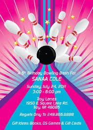 Free E Card Invitations Bowling Pin Template Bowling Party Free Kids Invitation