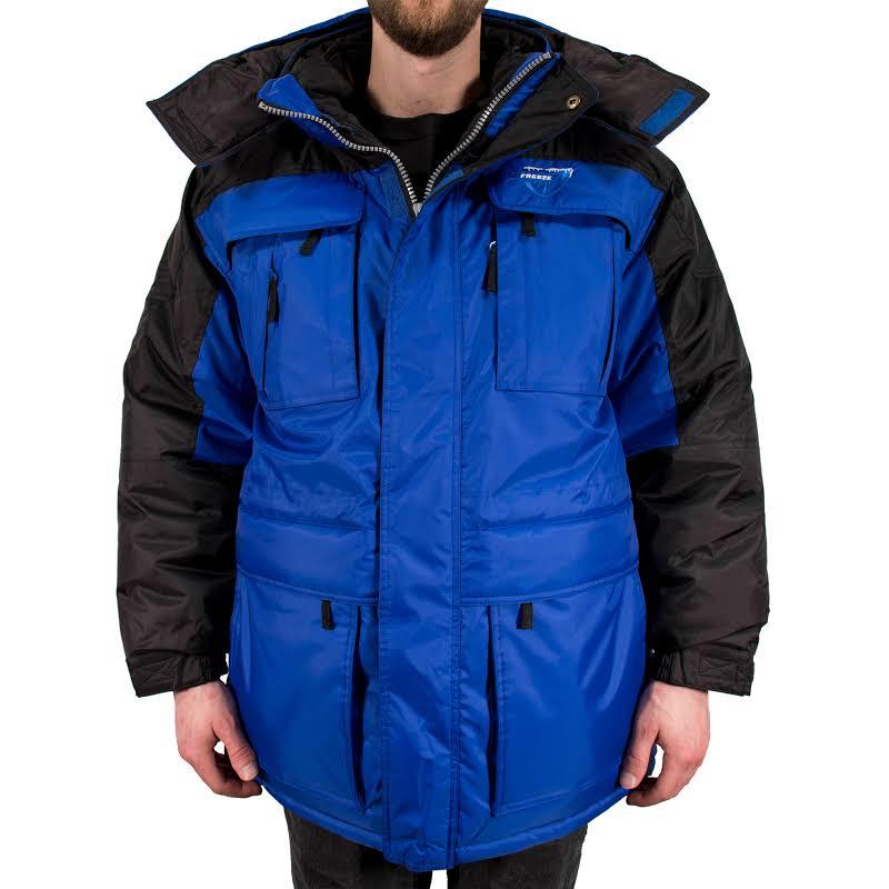 Freeze Defense 3in1 Winter Jacket Coat Parka & Reversible Vest (Large, Blue)