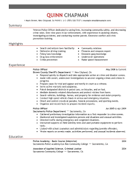Deputy Sheriff Job Description Resume by Best Police Officer Resume Example Livecareer